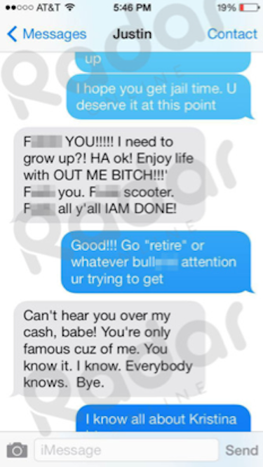 Justin Bieber-Selena Gomez Text #4
