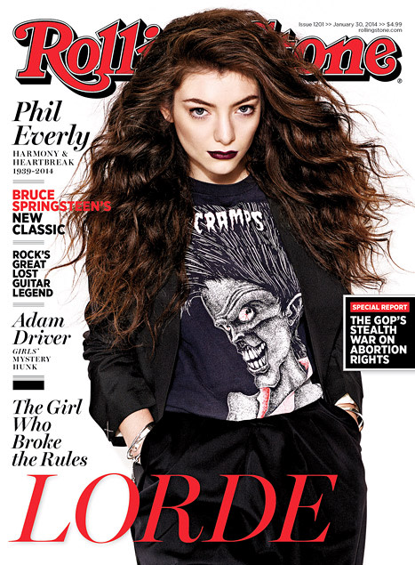 Lorde Rolling Stone Cover