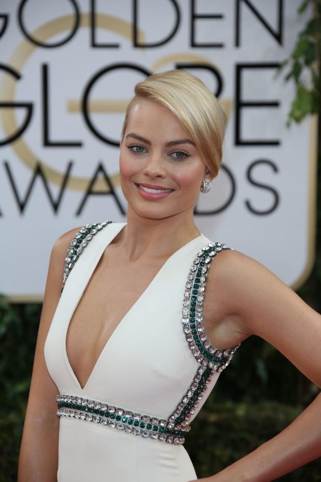 Margot Robbie at the Golden Globes