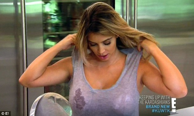 Kim Kardashian Boobs on KUWTK