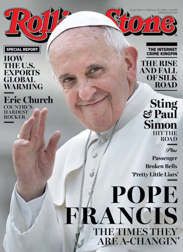 Pope Francis Rolling Stone Cover