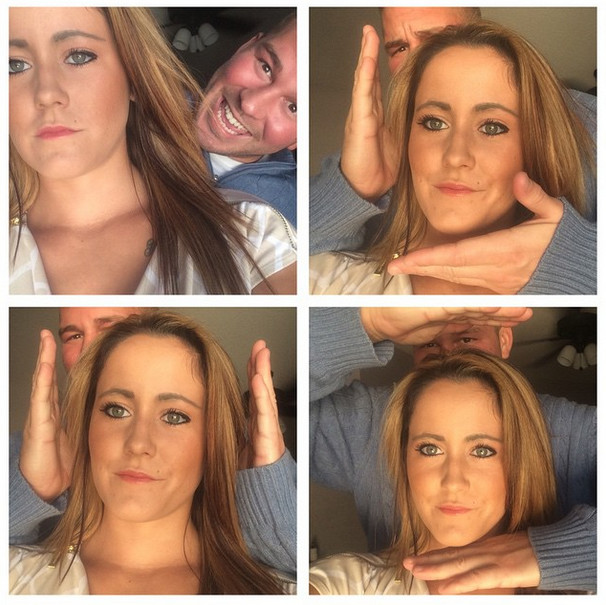 Nathan Griffith and Jenelle Evans Selfie