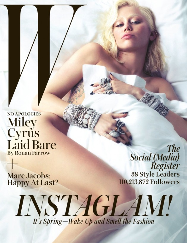Miley Cyrus Nude W Cover
