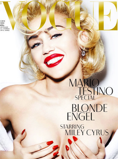 Miley Cyrus: Topless for German Vogue