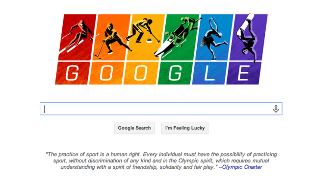 Olympic Google Homepage Doodle
