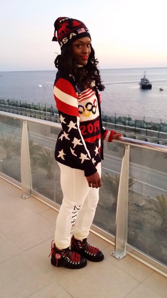 Aja Evans, Olympics Hottie