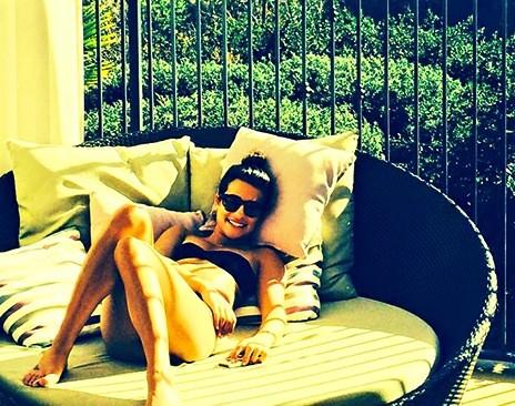 Lea Michele Bikini Pose