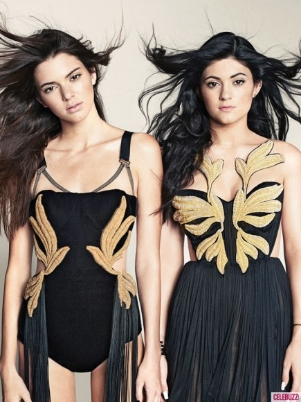 Kylie and Kendall Jenner in Marie Claire