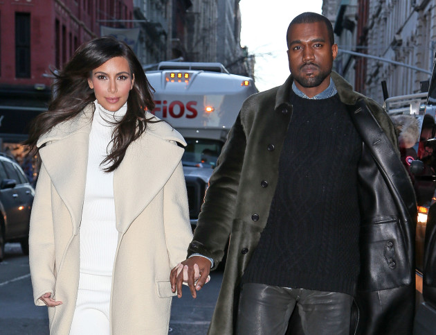 Kim Kardashian and Kanye West Hold Hands