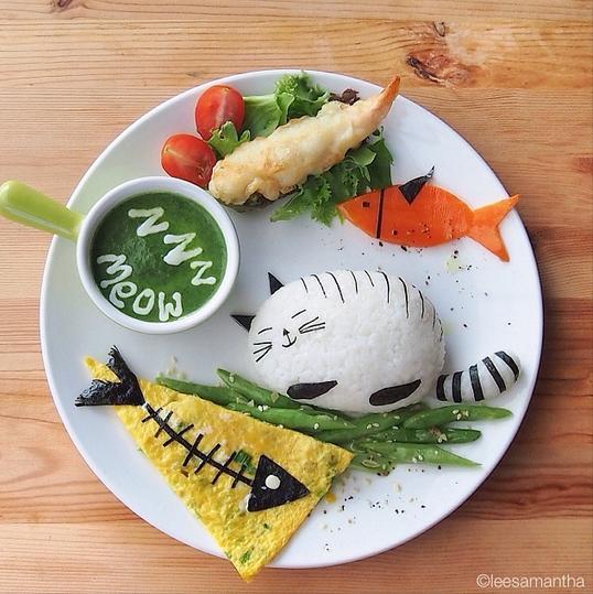 Cute Cat on a Plate