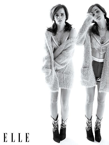 Emma Watson Bares Midriff in Elle