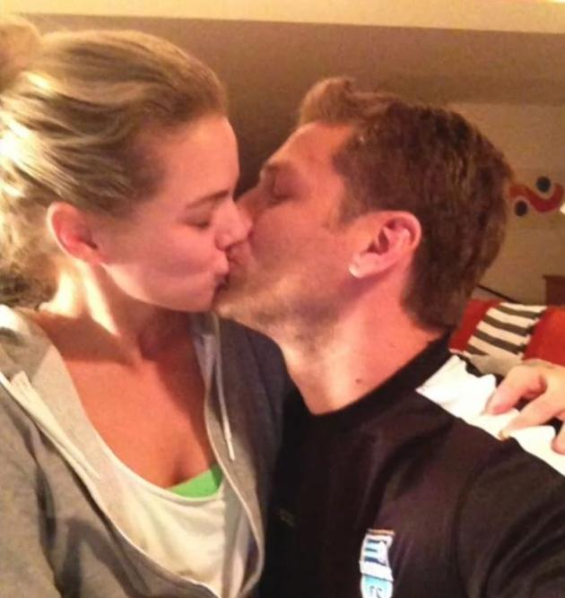 Juan Pablo and Nikki Ferrell Kiss