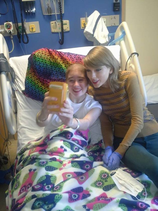 Taylor Swift with Cancer Patient