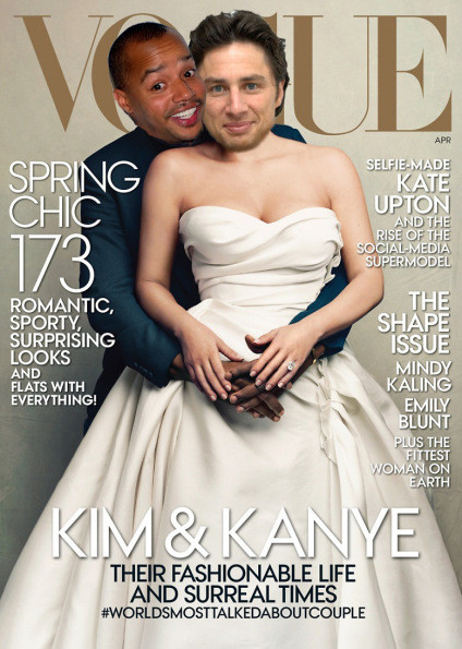 Zach Braff and Donald Faison Vogue Cover