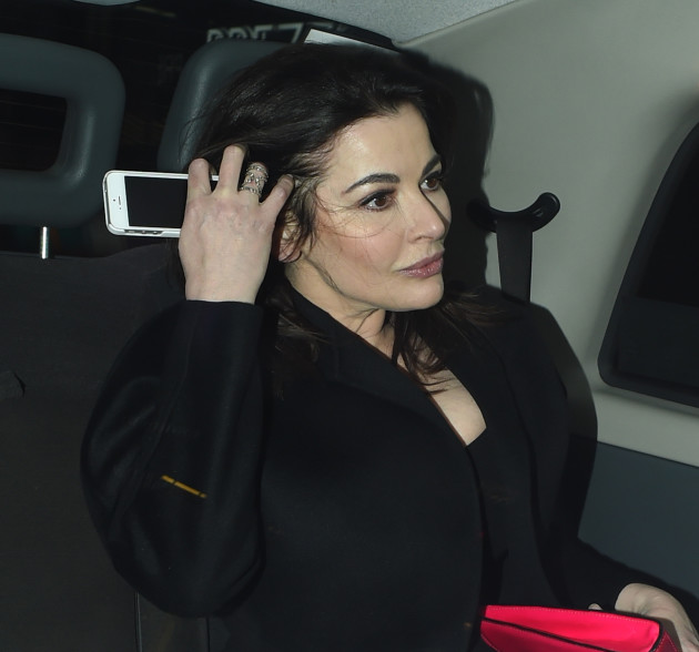 Nigella Lawson in a Car