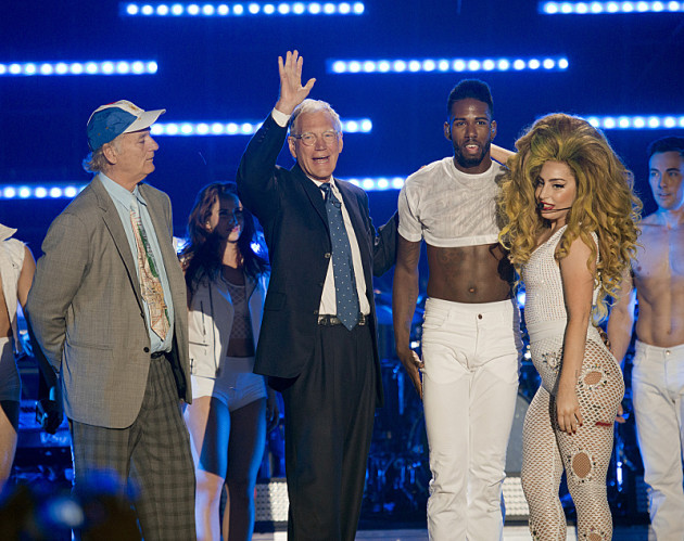 David Letterman with Lady Gaga