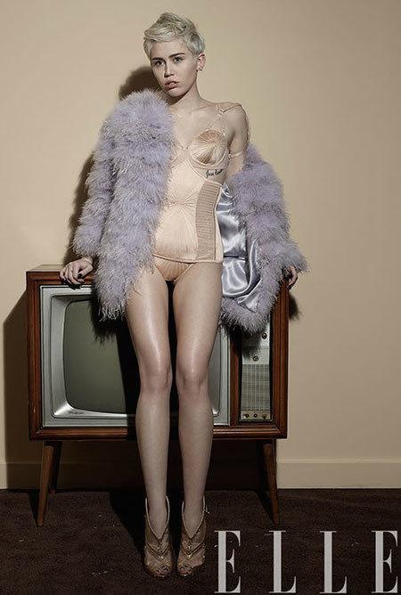 Miley Cyrus Elle Picture