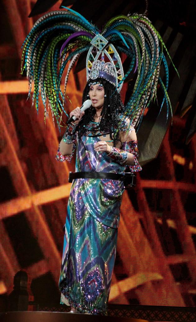 Cher's Peacock Hair