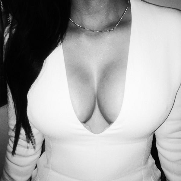 Kim Kardashian Cleavage Picture