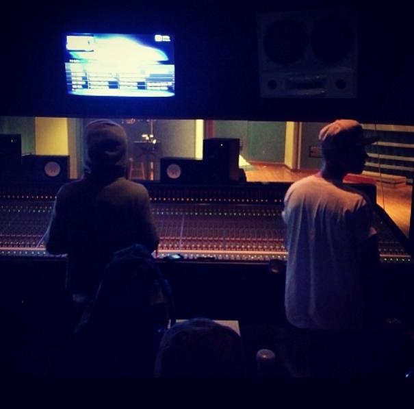 Justin Bieber and Lil Wayne Record Music