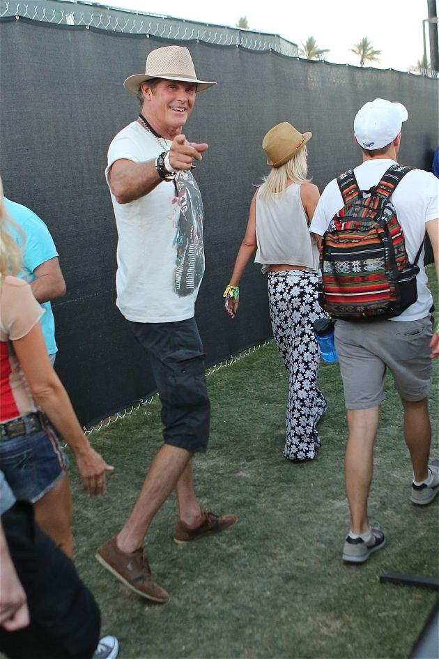 David Hasselhoff at Coachella