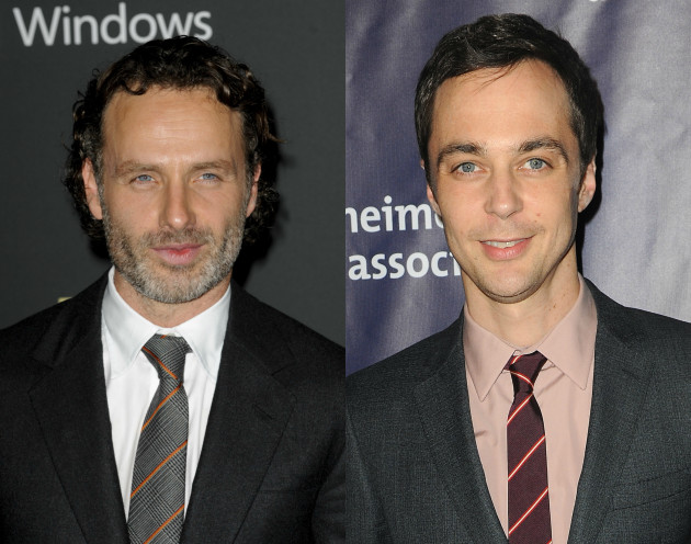 Andrew Lincoln and Jim Parsons