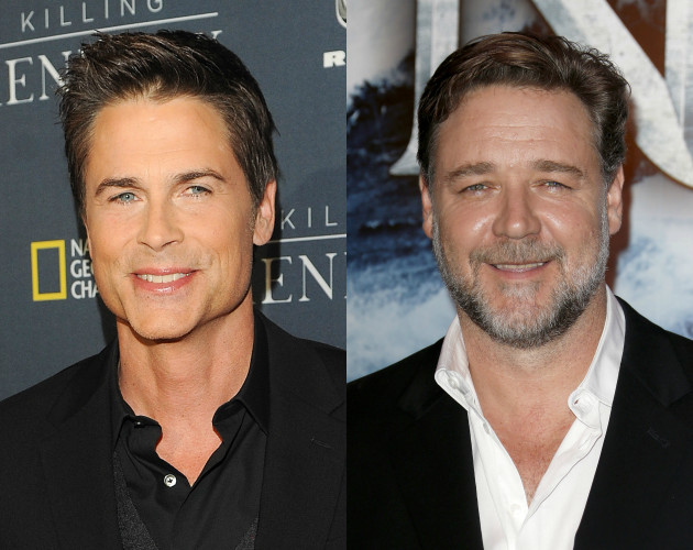 Rob Lowe and Russell Crowe
