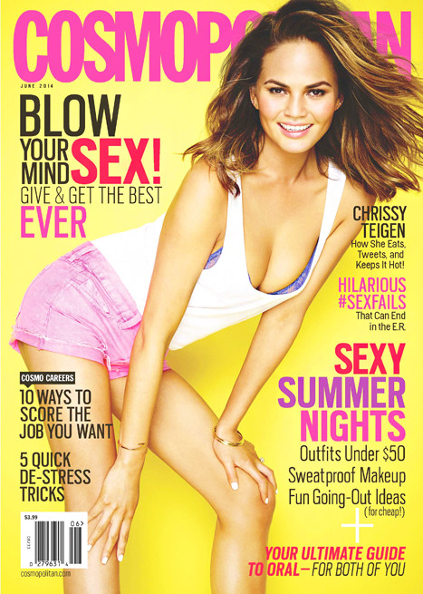 Chrissy Teigen Cosmo Cover