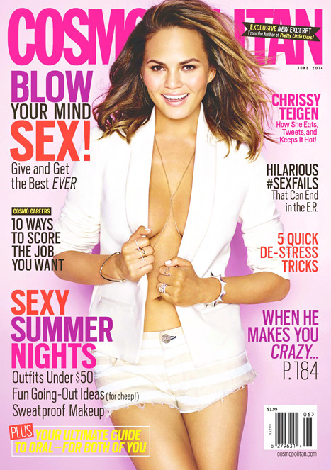 Chrissy Teigen Cosmo Magazine Cover
