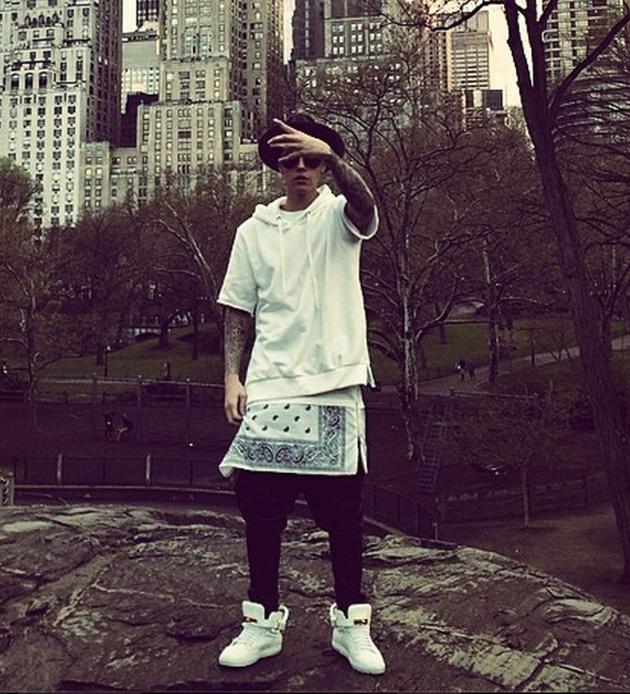 Justin Bieber in Central Park