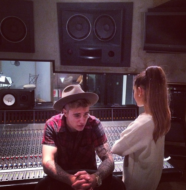 Justin Bieber and Ariana Grande Pic