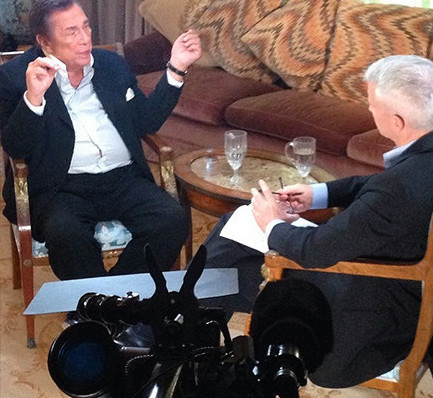 Donald Sterling with Anderson Cooper