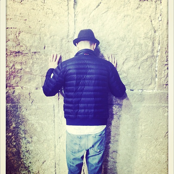 Justin Timberlake Western Wall Photo