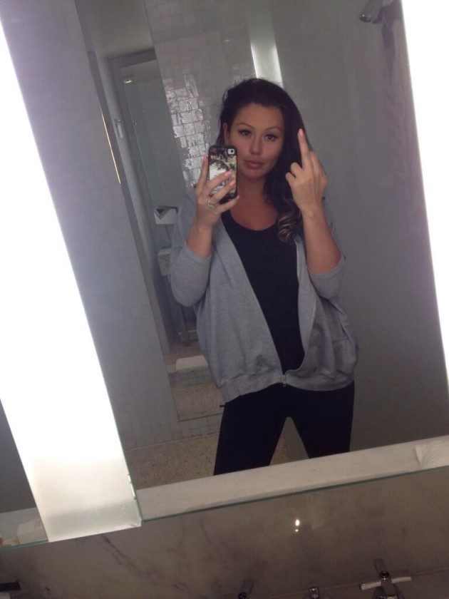 Jwoww Middle Finger Photo