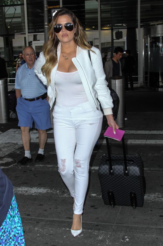 Khloe Kardashian at JFK