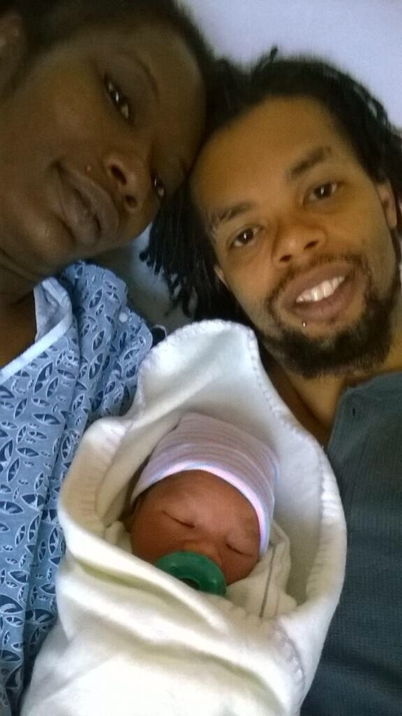 Antoine Dodson With Wife and Son