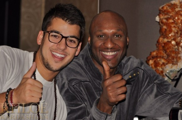 Rob Kardashian and Lamar Odom Pic