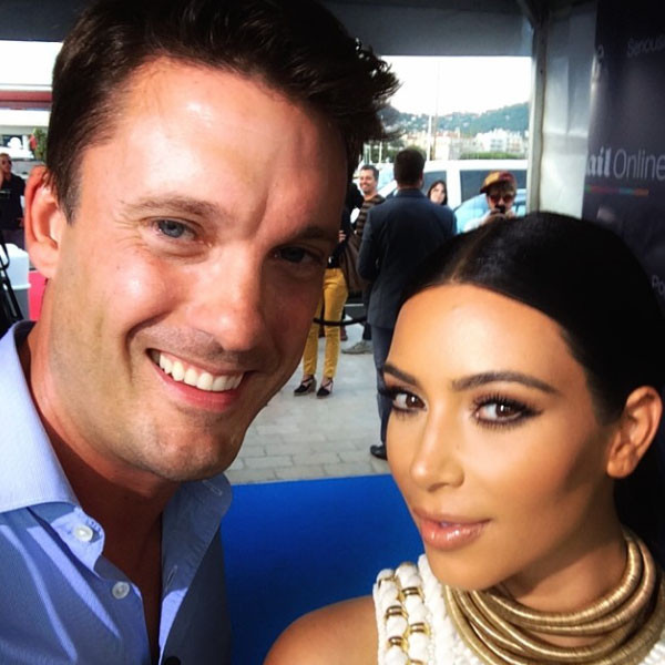 Keir Simmons and Kim Kardashian