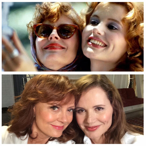 Susan Sarandon and Geena Davis Selifie