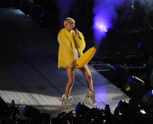 Miley Cyrus with a Banana