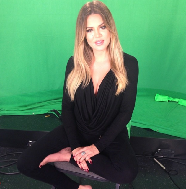 Khloe Kardashian Green Screen Pic