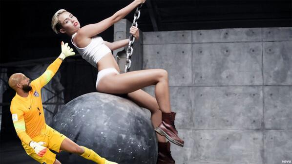 Tim Howard Saves Miley