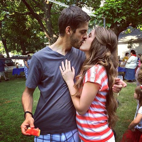 A Kiss for Derick Dillard