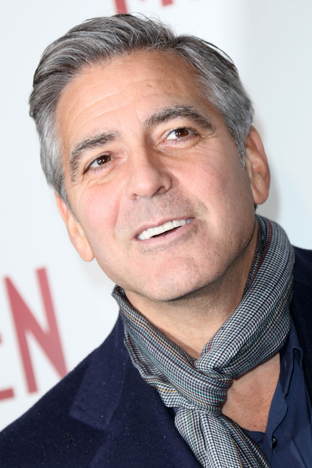George Clooney in a Scarf