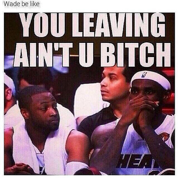 D-Wade Reacts to LeBron