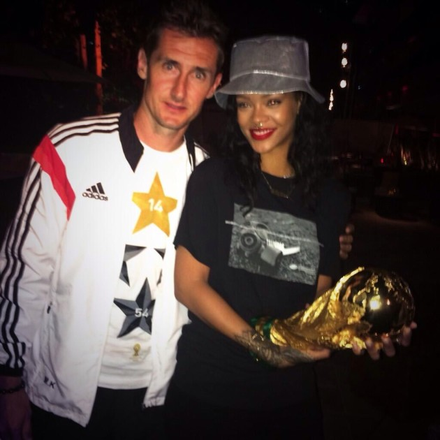 Rihanna Parties With Germany!