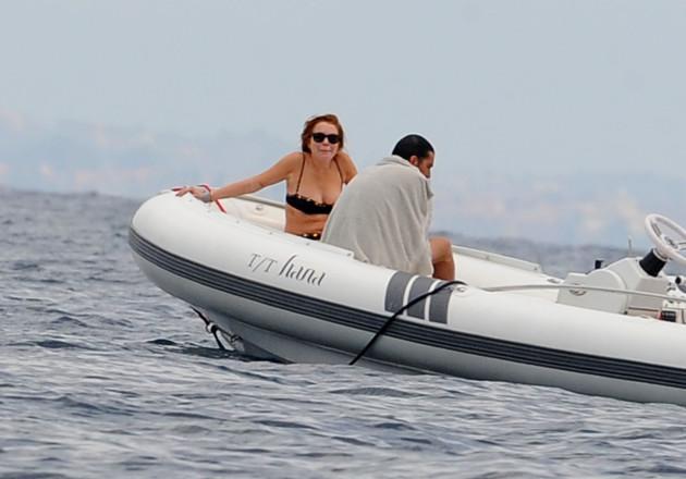 Lindsay Lohan Rocks a Bikini in Italy