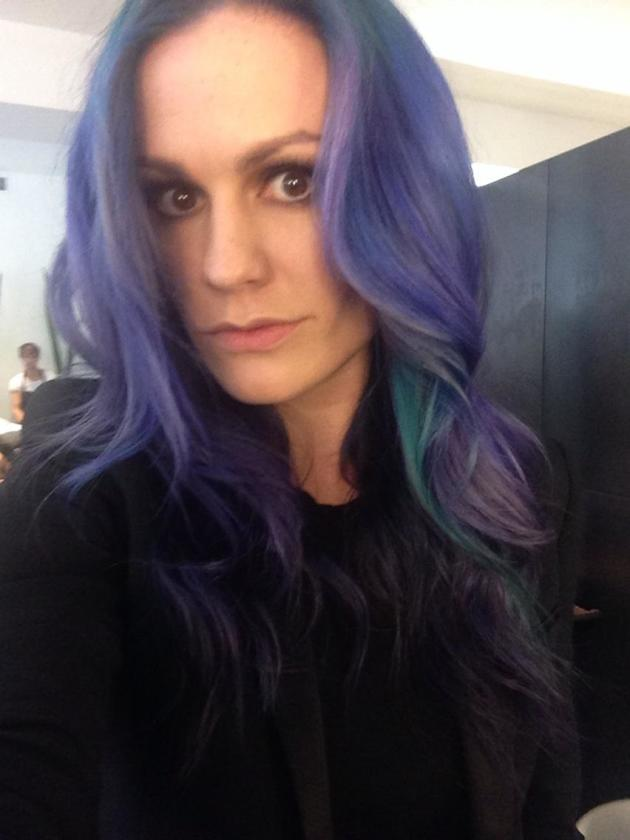 Anna Paquin with Purple Hair