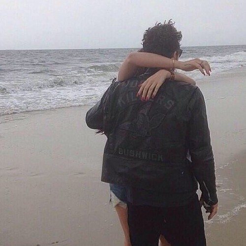 Lana and James at the Beach