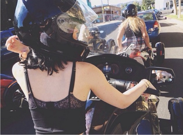 Kylie Jenner Motorcycle Photo